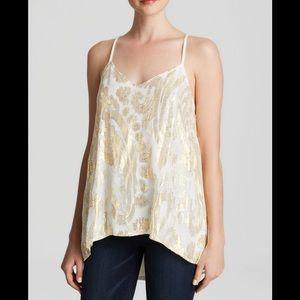 Ella Moss gold and white metallic Reina tank top